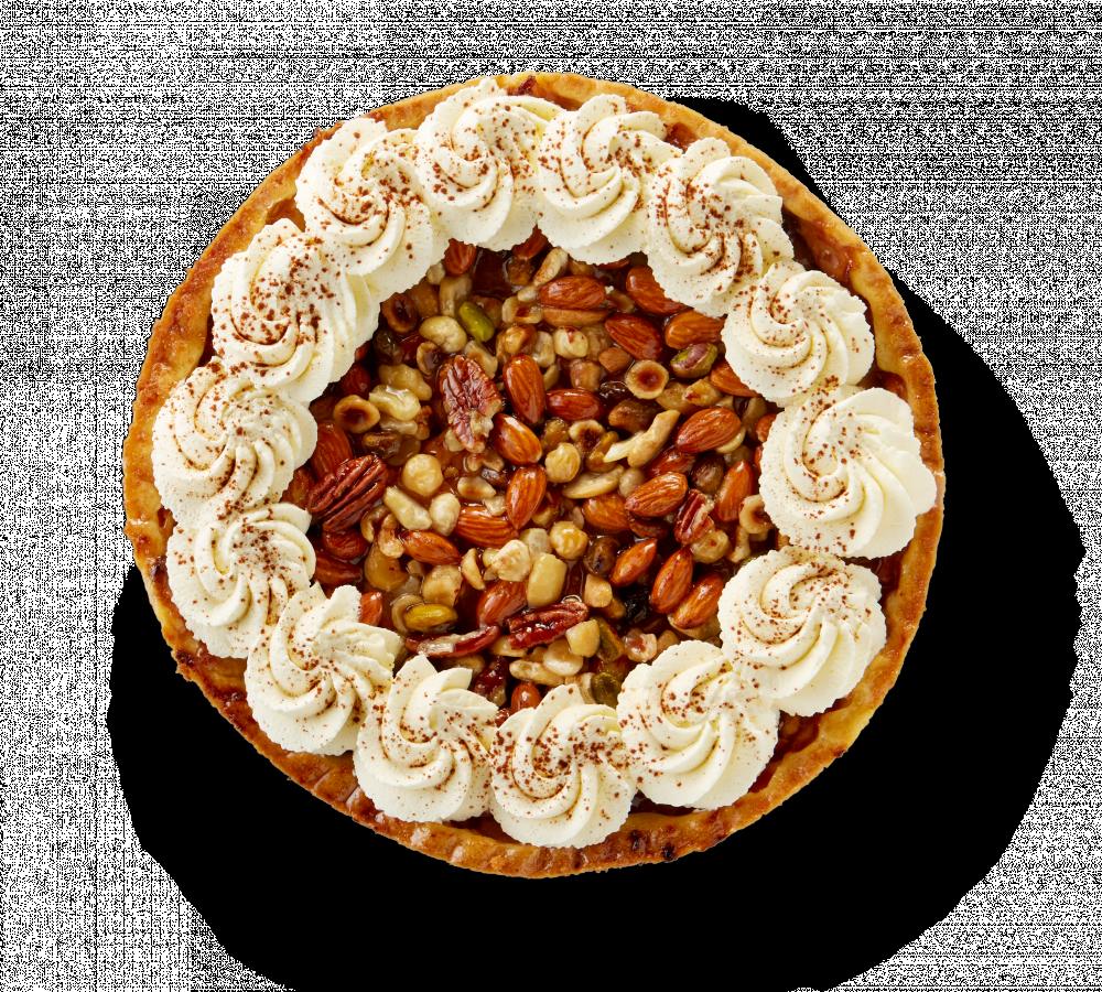 Korengoud Luxe Appelnotentaart met slagroom