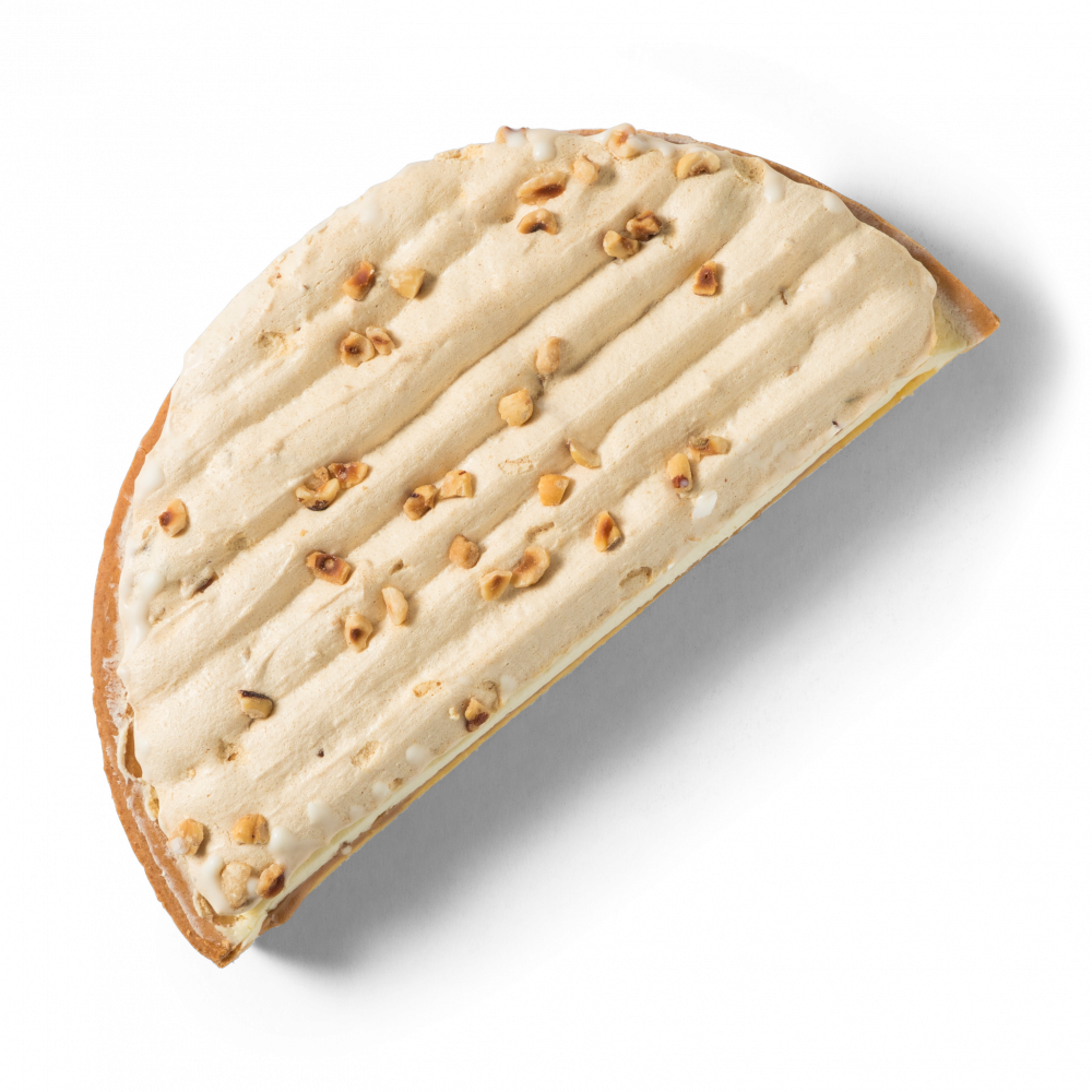 Korengoud Hazelnootvlaai half