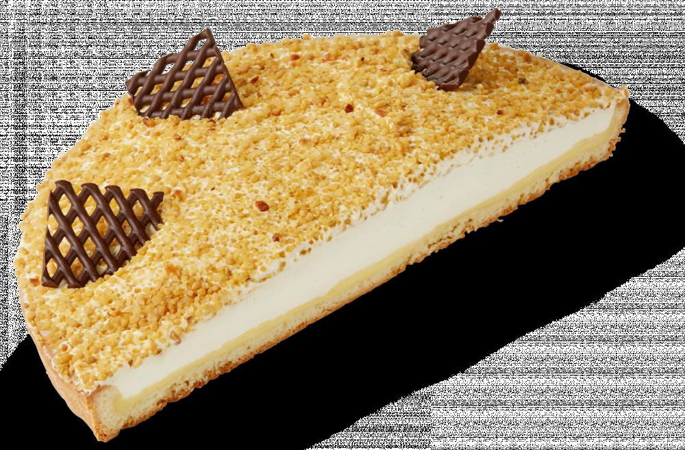 Korengoud Vanille-bavaroisevlaai half