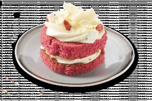 Korengoud 1-persoons Red-velvet taartje