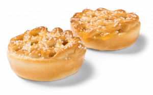 Korengoud mini rastervlaaitjes abrikoos