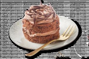 Korengoud 1-persoons chocoladetaartje