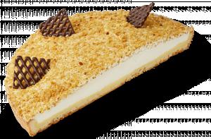 Korengoud Vanille-bavaroisvlaai half