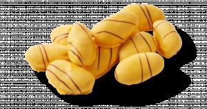 Korengoud mini bananen eclairs